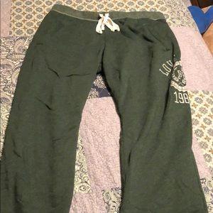 Victoria's Secret green sweatpants size large